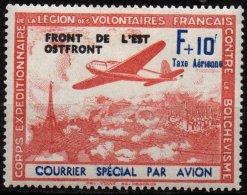 FRANCE - LVF - F+10F Neuf Surchargé - Variété Sans Point Sur Le I De Taxe Aérienne - Kriegsausgaben