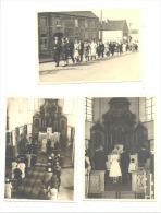 Mariage - Lot De 10 Photos Cartes - Village, Intérieur De L´Eglise... A SITUER (M1,2 Et 3) - Noces