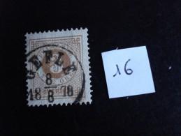 Suède - Années 1872-85 - 3ö Bistre- Y.T. N° 16 - Oblitéré - Used - Gestempeld - Suède