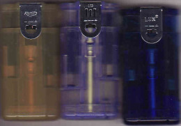 3 Briquets LUX, Réversibles - Double Sided, Lighter, Feuerzeug,Accendino, Encendedor - Briquets