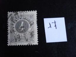 Suède - Années 1872-85 - 4ö Gris- Y.T. N° 17 - Oblitéré - Used - Gestempeld - Oblitérés