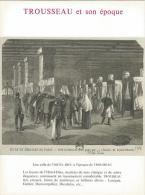 Gravure De Trousseau Et Son époque Au Recto Et Au Verso Publicité (Voir Ci-dessous La Description) - Pubblicitari