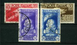 ITALIE ( POSTE ) : Y&T  N°  364/367  TIMBRES  BIEN  OBLITERES ,  A  VOIR . - Oblitérés