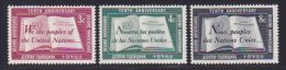 NATIONS UNIES NEW-YORK N°   35 à 37 * MLH Neufs Avec Charnière, TB  (D1294) - New York -  VN Hauptquartier