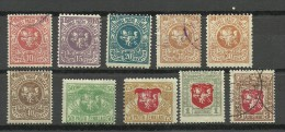 LITAUEN Lithuania 1919 Lot Coat Of Arms Mint & Used