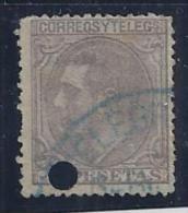 ESPAÑA 1879 - Edifil #208T Taladrado - VFU - Usados