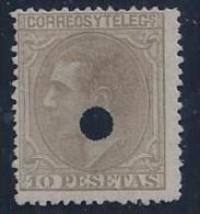 ESPAÑA 1879 - Edifil #209T Taladrado - Nuevos
