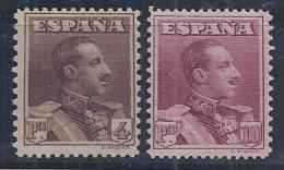 ESPAÑA 1922 - Edifil #322ec+323ec Colores Cambiados - MNH ** - Ongebruikt