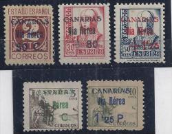ESPAÑA/CANARIAS 1938 - Edifil #44,45,46,50 Y 51 - MNH ** - 1931-Hoy: 2ª República - ... Juan Carlos I