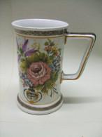 CHOPE Bière 1/2 En Céramique (décor Fleurs) - BASSANO Réf 579 - Bassano (ITA)