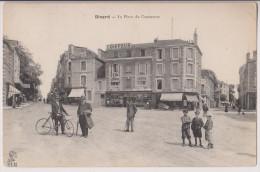 DINARD : LA PLACE DU COMMERCE - COIFFEUR - ECRITE EN 1908 - 2 SCANS - - Dinard