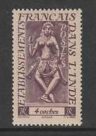 TIMBRE NEUF DES ETS FRANCAIS DANS L´INDE - DIVINITES : APSARA N° Y&T 238 - India (1892-1954)