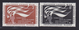 NATIONS UNIES NEW-YORK N°   54 & 55 * MLH Neufs Avec Charnière, TB  (D1299) - New York -  VN Hauptquartier