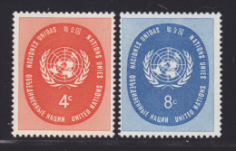 NATIONS UNIES NEW-YORK N°   60 & 61 * MLH Neufs Avec Charnière, TB  (D1303) - New York -  VN Hauptquartier
