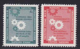 NATIONS UNIES NEW-YORK N°   62 & 63 * MLH Neufs Avec Charnière, TB  (D1302) - Ungebraucht
