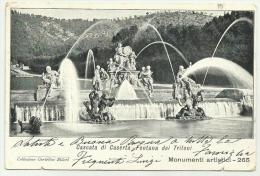 CASERTA CASCATA DEI TRITONO 1912  VIAGGIATA FP - Caserta