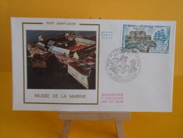FDC- Musée De La Marine - 56 Port Louis & Paris - 4.12.1976 - 1er Jour, - 1970-1979