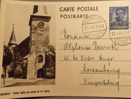 1945 Message Libération - LUXEMBURG-LUXEMBOURG -  Entier- Ganzsache-Diekirch - Stamped Stationery