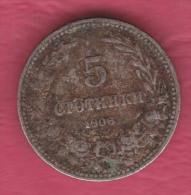F5062 / - 5 Stotinki - 1906 - Bulgaria Bulgarie Bulgarien Bulgarije - Coins Monnaies Munzen - Bulgaria