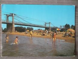 INGRANDES SUR LOIRE (49). LA PLAGE ET LE PONT . ANNÉE 1989 - Other Municipalities