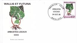 WALLIS Et FUTUNA 1995 @ Enveloppe Premier Jour FDC Arbustes Locaux - Kava  65 F - FDC