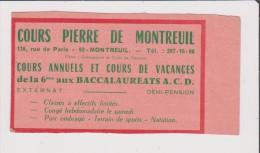 Vieux Papier COURS PIERRE DE MONTREUIL 93 - REMINGTON CAUMARTIN ACADEMIE COMMERCIALE DE PARIS  9e - Publicités