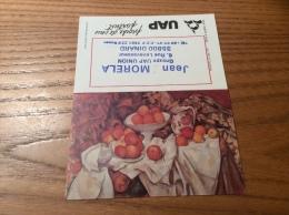 """Calendrier 1983 """"MORELA UAP DINARD (35) / Cliché Musées Nationaux (pommes Et Oranges Paul Cézanne 1895)"""" (10x13cm) - Calendriers"""