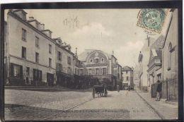 9533. CORMEILLES  EN PARISIS . PLACE DE L EGLISE . C. L. C. . (recto Verso)   ANNEE . 1907 . ATTELAGE . HOTEL DU GRAND - Cormeilles En Parisis