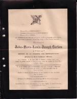 OSTENDE OOSTENDE Jules CARBON époux GODDYN Avocat Député Catholique BRUGGE Né En 1866 Doodsbrief - Obituary Notices