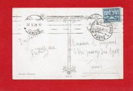1931-TP N°4 Sur Carte Postal(Garde Suisse) Du Vatican Pour La Tunisie - Vatican