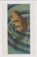 Carte Souple - KATSUSHIKA TAITO - A Carp Leaping In A Pool Coloured Woodcut Japanese Victoria And Albert Museum - Arts
