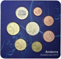 SET ANDORRA 2014 RESIDENTE 8 VALORES - Andorra