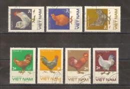 VIETNAM - LOT DE 7 TIMBRES OBLITERES - ANIMAUX - POULES - Viêt-Nam