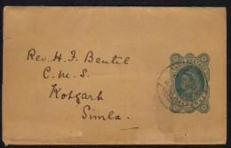 INDE - INDIA - QV  /1903 BANDE JOURNAL POUR SIMLA ENTIER POSTAL (ref 3890) - Inde (1892-1954)