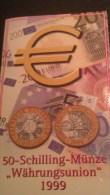 """5 Scans -- Keine Euro - """""""" Währungs Union 1999 """""""" - 50 Schilling -- Sammlung - Lot"""