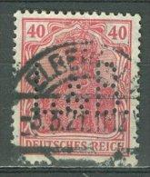 DEUTSCHES REICH 1920-21: Mi 145 / YT 123, PERFIN, O - KOSTENLOSER VERSAND AB 10 EURO - Germania