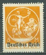 DEUTSCHES REICH 1920-21: Mi 136 II / YT Bavière 213, * MH, Ungeprüft - KOSTENLOSER VERSAND AB 10 EURO - Unused Stamps