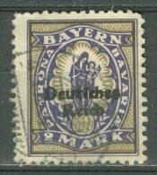 DEUTSCHES REICH 1920-21: Mi 132 / YT Bavière 208, O - KOSTENLOSER VERSAND AB 10 EURO - Germania