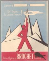 Protège Cahier Pain D'Epices Brochet Frères En Avant La Jeune France! Des Années 1960 Environ Spécial Oiseaux - Protège-cahiers