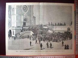 /14 Nel 1886 Milano, Arrivo Salma Di Agostino Bertani Al Cimitero Monumentale - Ohne Zuordnung