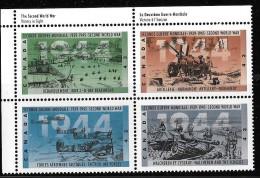 CANADA 1944  # 1540ai, HF  MNH, SECOND WORLD WAR---1944  UL Block    High Fluorescent - Blocks & Sheetlets
