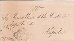 Cava Dei Tirreni. 1896. Annullo Tondo Riquadrato, Su Lettera In Franchigia. - Marcophilie