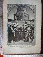 377 Bella Stampa Lo Sposalizio Della Vergine, Di Raffaello, Pinacoteca Di Milano - Ohne Zuordnung