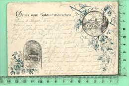 GRUSS VOM BALDUINSHÄUSCHEN: Lithographie Multi-vues - Diez