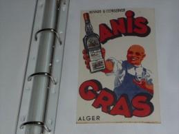 BUVARD Publicitaire  BLOTTING PAPER    -  ANIS GRAS ALGER - Liquor & Beer