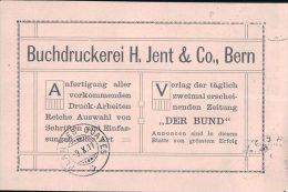 Carte Postale Suisse, Buchdruckerei H. Jent & Co Bern - Genève (9.10.11) - Storia Postale