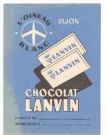 Protège Cahier LANVIN L'oiseau Blanc Chocolat Lanvin Des Années 1960 Environ - Book Covers