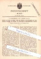Original Patent  - J. S. Billwiller In St. Gallen , Schweiz , 1885 , Gerberei !!! - Documents Historiques
