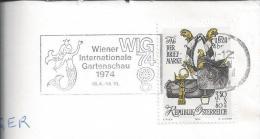 Vienna Gardens.WIG.74 Wiener Internationale Gartenschau.Stamp With Bags Of Mail And Trumpet.Sea Mermaid. 2 Scans. - Orchideen