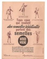 Protège Cahier WOOD MILNE Tous Ceux Qui Veulent Des Semelles Résistantes, Années 1960 Environ - Protège-cahiers
